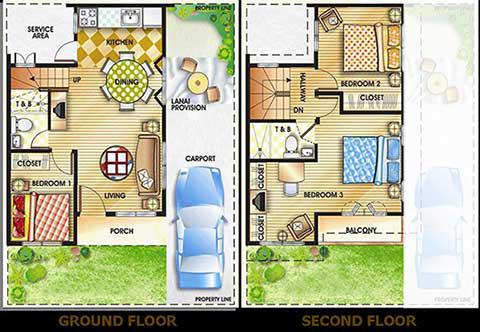 CHESAPEAKE VILLAGE IMUSCAVITEBuhay Na Tubig - House design 80 sqm